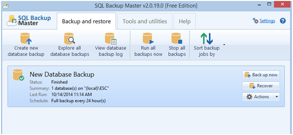 Automatic Backups with SQL Backup Master – ESC