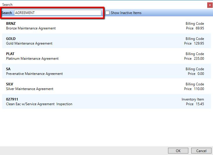 Setup Agreement Invoicing DESCO Support - Open invoice customer service