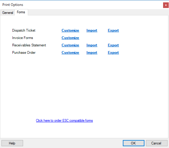 how do i customize my invoice forms desco support