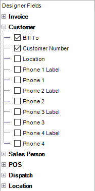 a field added to your invoice forms may appear in the last place it was used in the form or will appear in the top left corner