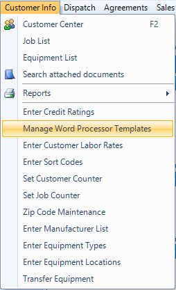Managing Email And Word Processor Templates Desco Support