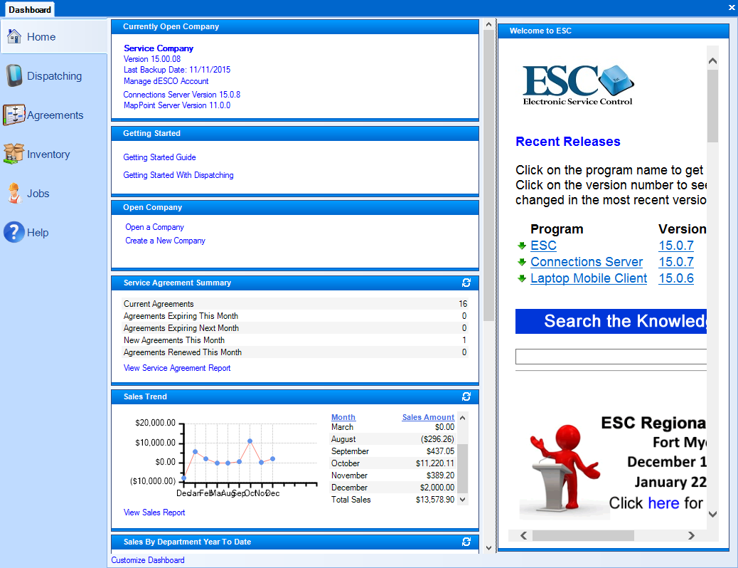 Working with the ESC Dashboard – ESC