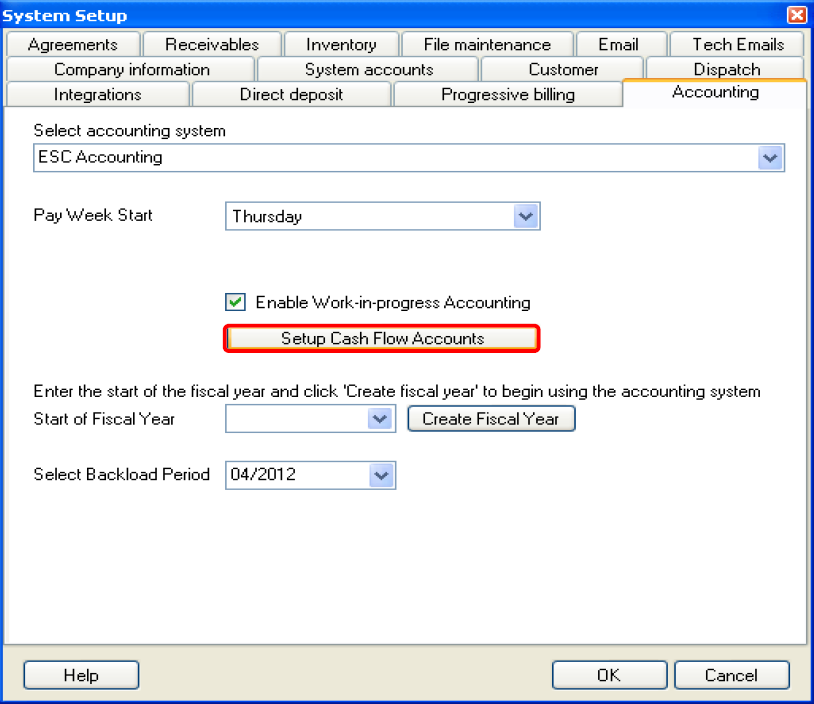 how do i track cash flow in esc desco support